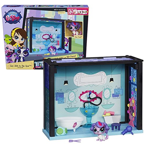Girl Toys Bundle Toys Littlest Pet Shop Pet-acular Say Ahh to the Spa Style Set and The Ugglys Pet Shop Toy Figure (8-Pack)
