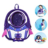 JLRQY Anti Lost Backpack Baby Safety Walking Harness Leashes For Toddlers Outdoor Safety Hook And Loop Belt 1-5 Old Kids,B,Large