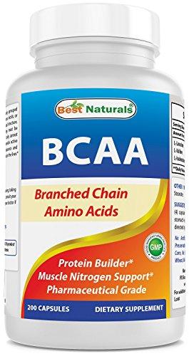 Best Naturals BCAA Branch Chain Amino Acid, 3200mg per serving, 200...