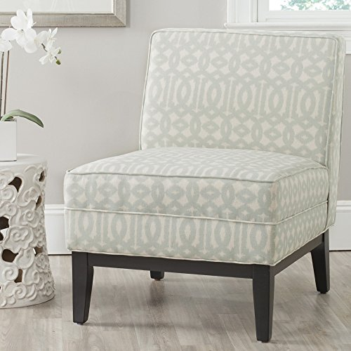 Safavieh Mercer Collection Armond Accent Chair, Silver and Cream