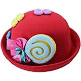 [Candy Red] Cute Baby Woolen Hat Children Bucket Hat...