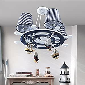 LED children's room chandeliers, creative cartoon art eye boy bedroom lamp