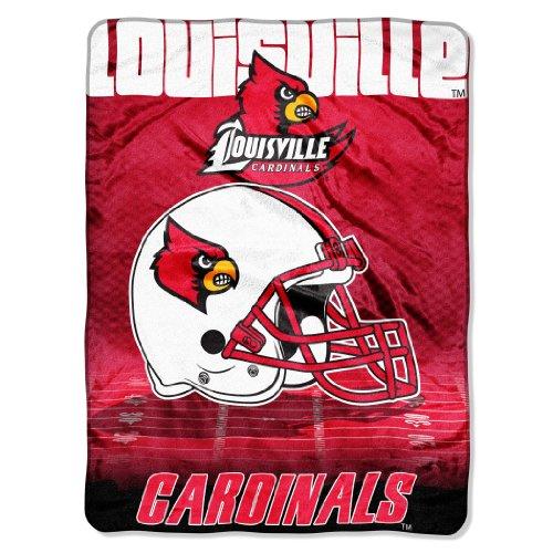 Officially Licensed NCAA Louisville Cardinals Overtime Micro Raschel Throw Blanket, 60