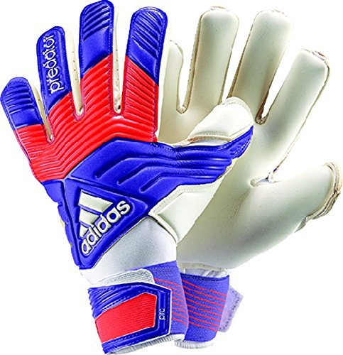 adidas Predator Pro Classic Soccer Goalie Gloves, Night Flash/Solar Red/White (12)