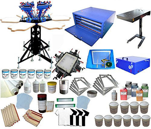 Full Set 6-6 Color Screen Printing Kit by Screen Printing Kits