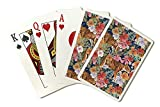 Tigers and Flowers - Seamless Vector Pattern (Playing Card Deck - 52 Card Poker Size with Jokers)