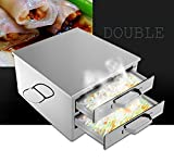 Shihualine Stainless Steel Steamed Machine Steam Rack hot Rice Milk Furnace Cooking Tools Drawer Rice box Roll Steamer