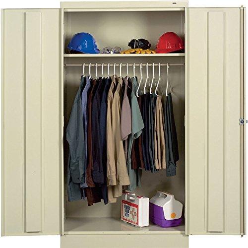 Tennsco Reinforced Shelving - Tennsco Knock-Down Wardrobe Cabinet - 36 Inch W x 18 Inch D x 72 Inch H, Putty, Model 1471
