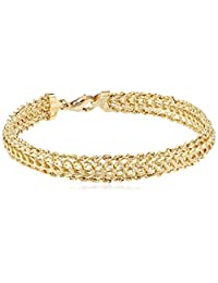 "Duragold 14k Yellow Gold Braided Rope Bracelet, 7.25"""