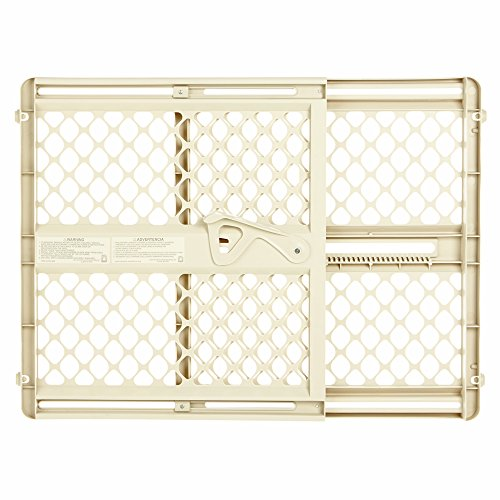 Supergate Ergo Pressure or Hardware Mount Plastic Gate, Ivory, Fits Spaces between 26