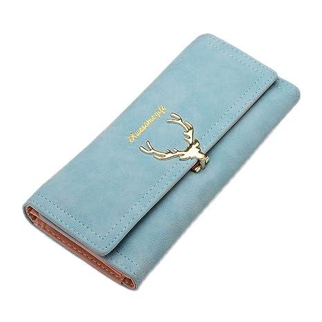 2687184e28de Amazon.com: JNCLEO Wallet Women's Wallet Long Zipper Solid Candy ...