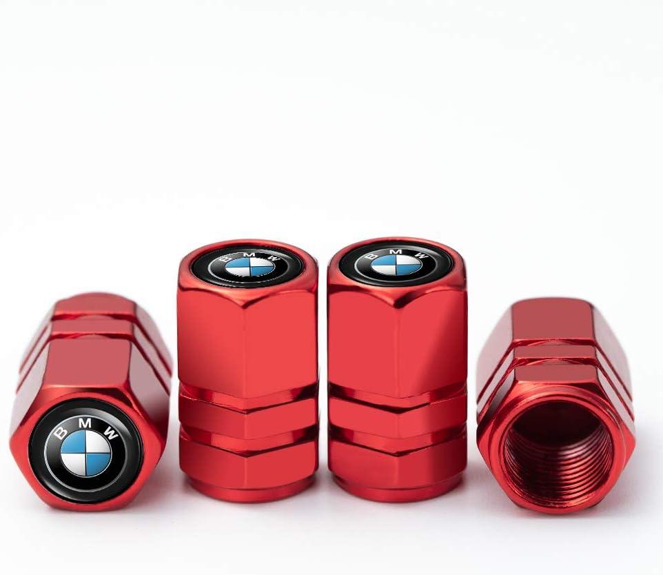 PATWAY 4 Pcs Metal Car Wheel Tire Valve Stem Caps for BMW X1 X3 M3 M5 X1 X5 X6 Z4 3 5 7Series Logo Styling Decoration Accessories.