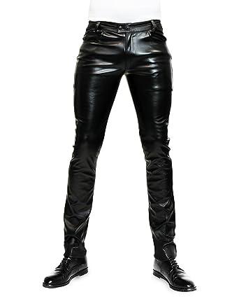 baratas para descuento 1f04f 8a924 Bockle Pantalones de Cuero Hombre varón Cuero de imitación ...