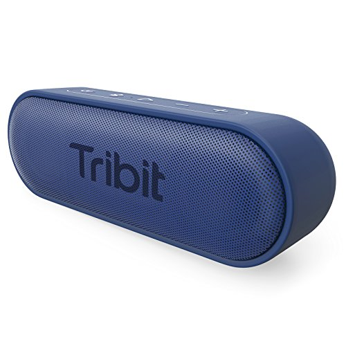 Tribit XSound Go Portable Bluetooth Speaker, 2×6W Wireless Speaker, with Rich Bass, 24-Hour Playtime, IPX7 Waterproof, 66FT Bluetooth Range & Built-in Mic, for Home, Shower, Beach, Party (Blue)