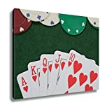 Ashley Canvas, Winning Poker Hand And Casino Chips, Home Decoration Office, Ready to Hang, 20x25, AG6430363