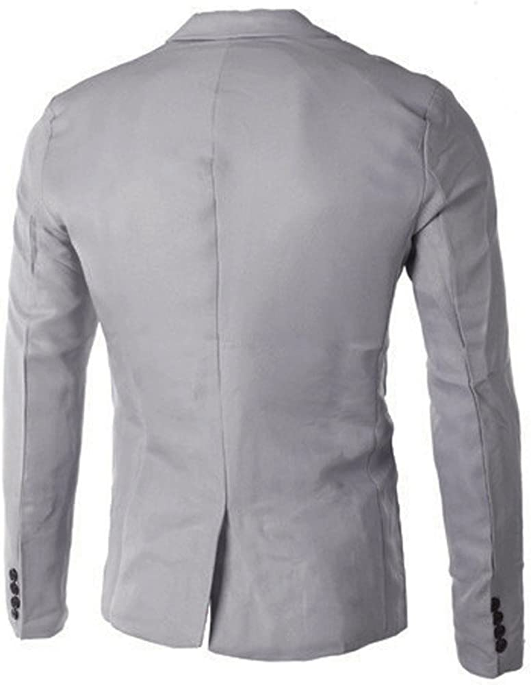 Succper Mens Blazer Jacket Slim Fit Casual One Button Solid Suit Separate Jacket