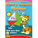 Preschool Sticker Activity book: Foxy Learns Shapes