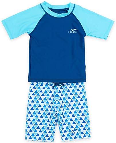 子供水着 男の子 キッズ 水着 sandia サンディア ラッシュガードセット 三角