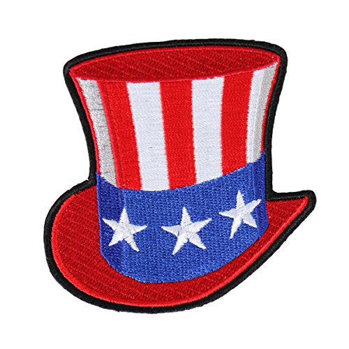 Hot Leathers, UNCLE SAM HAT, Iron-On / Saw-On Rayon PATCH - 3