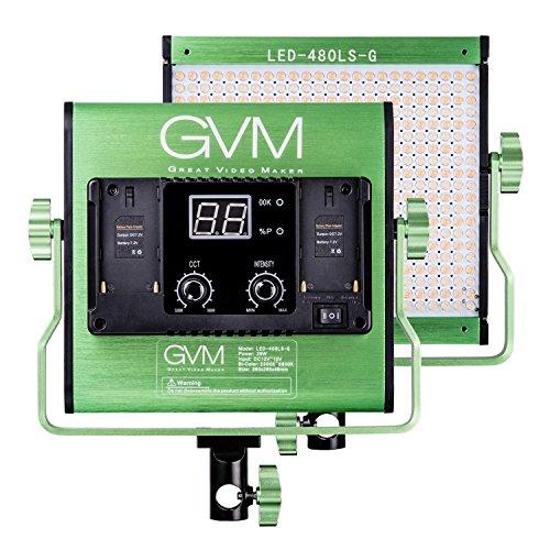 Gvm Photo Studio Led Ring Light: GVM Dimmable Bi-color LED Video Panel Light Variable 2300K