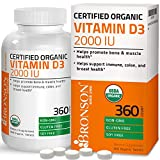 Vitamin D3 2000 IU for Healthy Muscle Function, Bone Health and Immune...
