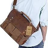 Best Man Bags - Lifewit Genuine Leather Vintage 15.6