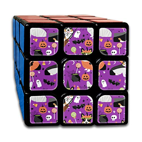 Tri-Colored Corgi Halloween Costumes Mummy Vampire Ghost Just Dog Purple Customized Speed Cube 3x3 Smooth Magic Cube Puzzle Game Brain Training Game for Adults Kids]()