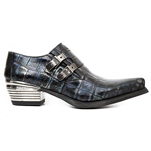 New Rock Dallas blue Pelle Scarpe M.7934-S80