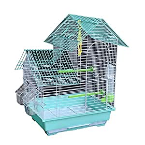 Meetshine Jaula De Villa 47cm Jaula para Pájaros Dorada para ...