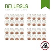 Amazon #DealOfTheDay: Belursus 32 Pack Chair Leg Caps Silicone Floor Protector Round Legs Furniture Table Pads Feet Covers