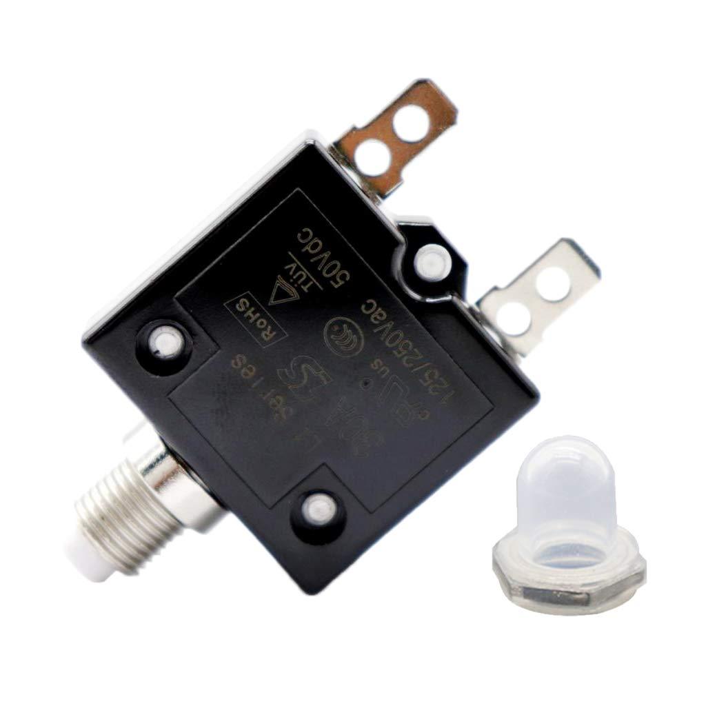 Shiwaki 5a Disjoncteur De Surcharge Commutateur De Protection Fusible R/éarmable AC 125 15A 250v