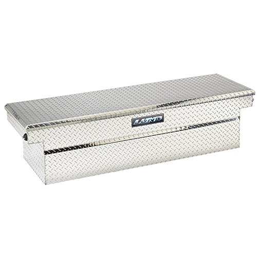 - Lund 9306PB 70-Inch Aluminum Push Button Full Lid Cross Bed Truck Tool Box, Diamond Plated, Silver