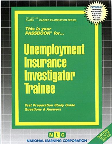 Download Unemployment Insurance Investigator Trainee (Passbooks) Pdf
