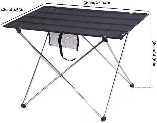 LYAmber - Mesa de Camping Plegable y portátil con Bolsa de ...