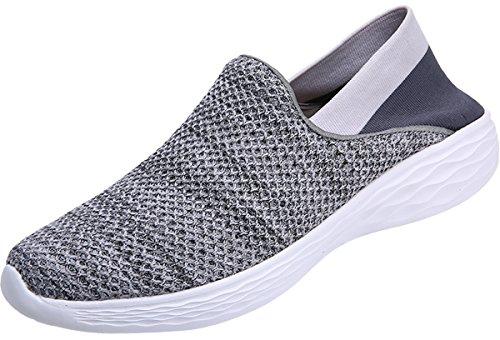 Damen Grau 35 Slip Sneakers on 45 JOOMRA Halbschuhe HZUqvq