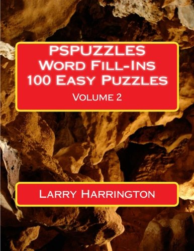 PSPUZZLES Word Fill-Ins 100 Easy Puzzles Volume 2