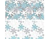 White Snowflake Metallic Foil Confetti Value Pack | Christmas Decoration
