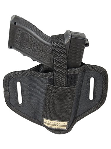 Barsony New 6 Position Ambidextrous Concealment Pancake Holster for Full Size 9mm 40 45