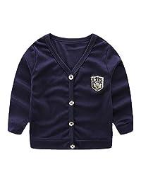 LittleSpring Little Boys' Slim Cardigan Buttons