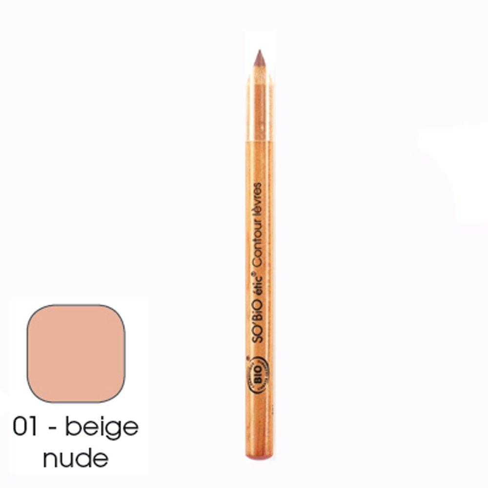Crayon contour des lèvres, 01 beige nude So' Bio Etic