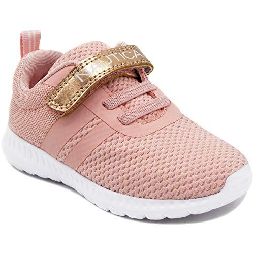 Nautica Kids Girls Fashion Sneaker Running Shoe Strap-Towhee Girls-Rose Gold-11 ()