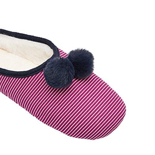 Mitsy Pantoufles Deep Stripe Femme Joules Fuschia dxqYBOTx1w