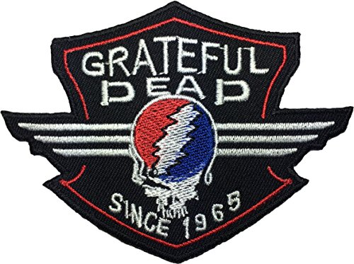 The GRATEFUL DEAD Music Band Logo Jacket Vest shirt hat blanket backpack T shirt Patches Embroidered Appliques Symbol Badge Cloth Sign Costume Gift