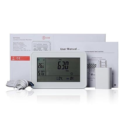 Monitor alarma de dióxido de carbono CO2, 3 en 1, detector de