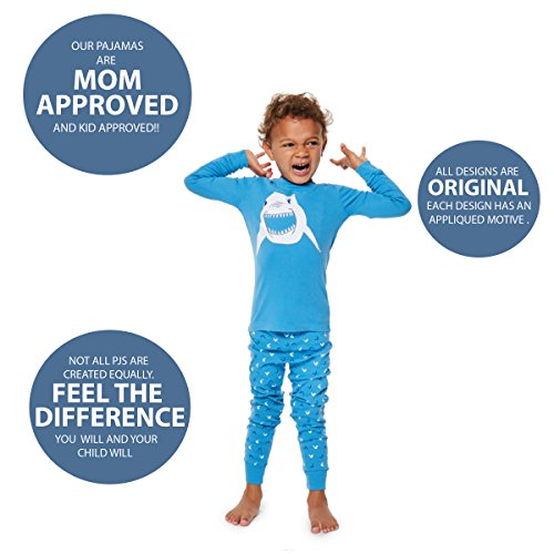 Boys Pajamas Shark 2 Piece 100% Super Soft Cotton (12m-8y) by Bluenido (Image #4)