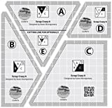 Creative Grids Scrap Crazy for 6'' Finished Blocks - Set of Four Quilting Ruler Templates  CGRMT6