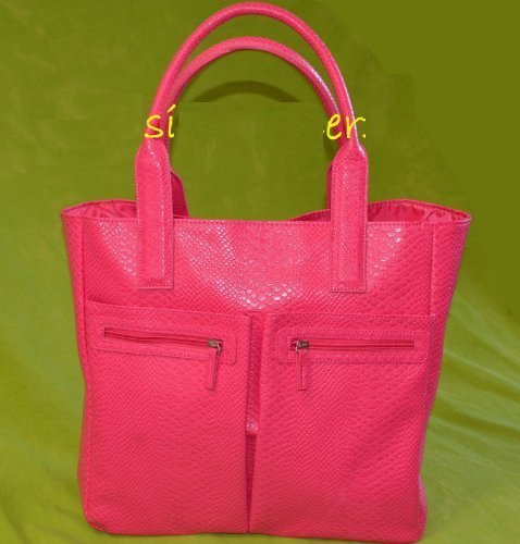 2014-neiman-marcus-exclusive-pink-faux-croc-tote-bag-color-pink-one-bag-only