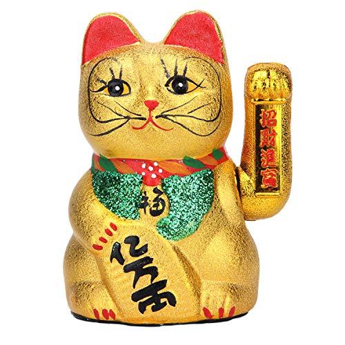 "VanEnjoy 7"" Beckoning Ceramic Maneki Neko Lucky Fengshui Cat"