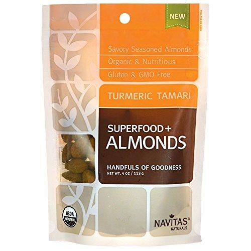 - Navitas Naturals, Almonds Turmeric Tamari Organic, 4 Ounce