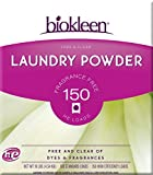 Biokleen Laundry Powder, Free & Clear, 10 lbs - 150 HE Loads/100 Standard Loads (Pack of 4)